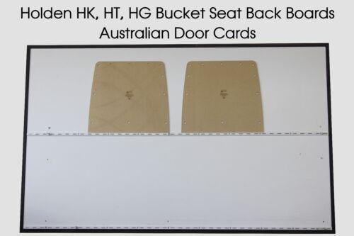 Holden HK Masonite Boards HT Bucket Seat Blank Trim Panels HG