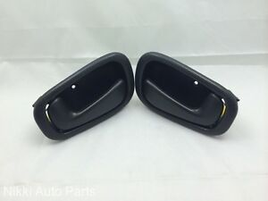Set Of 2 Black Inside Door Handle For Toyota Corolla
