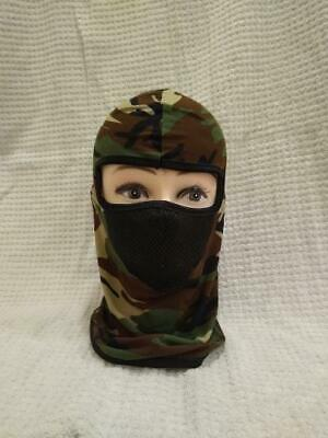 Face Mask Mesh Nose Mask Adult CAMO Full head cover 1-Hole VERY Lightweight Hunt