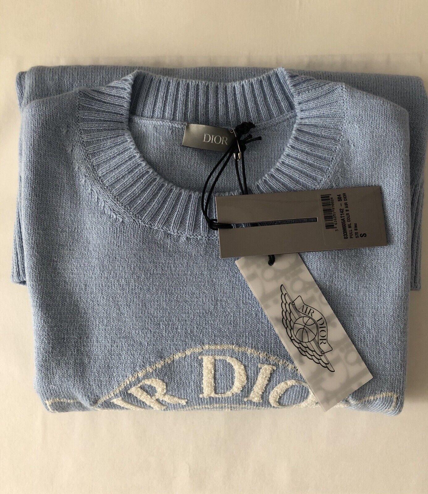 Air Dior Wings x Jordan1 Dior Sweater Blue Rare Colour Way Size S BNWT DS