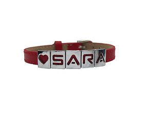 personalised leather bracelet any name all colours perfect present