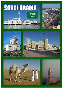 Arabia Saudí - Recuerdo Novedad Imán de Nevera - Nuevo