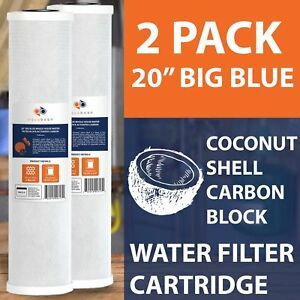 2-PACK-Of-5-Micron-Big-Blue-Coconut-Shell-Carbon-Block-Water-Filter-20-034-x4-5-034-by