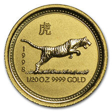1998 1/20 oz Gold Lunar Year of the Tiger BU (Series I) - SKU #9002
