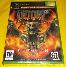 DOOM 3 RESURRECTION OF EVIL XBOX (patch X360) Versione Italiana ○○○○ NUOVO
