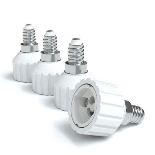 12x Lampensockel Adapter E14 auf GU10 Fassung Stecker Glühbirne Konverter Lampe