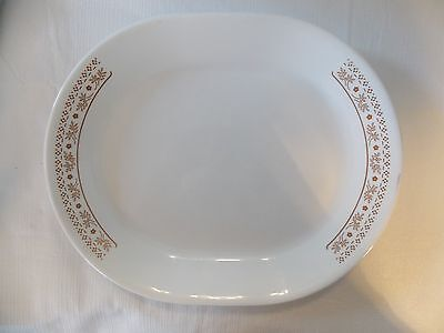 CORELLE DINNERWARE WOODLAND BROWN SERVING PLATTER
