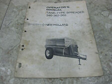 Sperry New Holland Tank Type Manure Spreader 346 362 365 Operators Manual