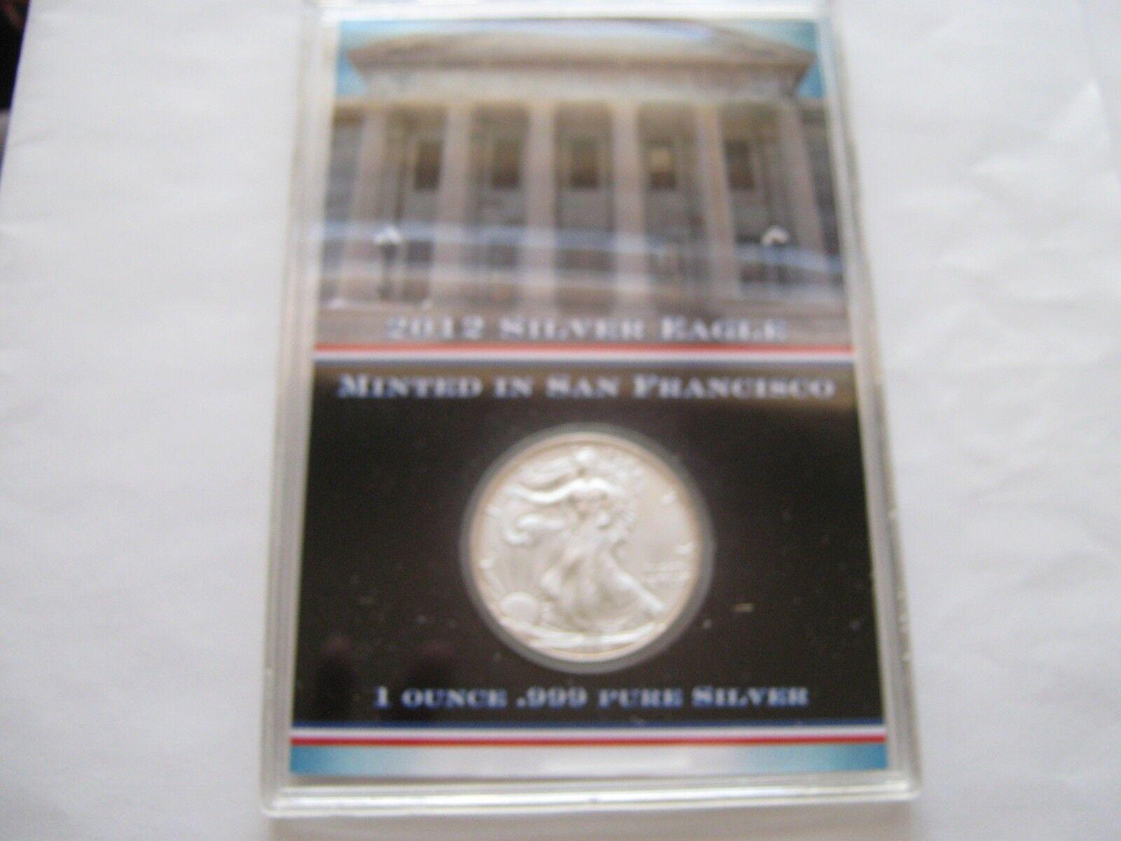 2012 Silver Eagle , Struck at San Francisco Mint , 5 Co