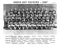 1967 Green Bay Packers Nfl Team 8x10 Photo Super Bowl Champs Ice Bowl Bw
