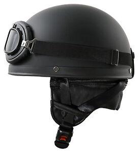 h110 matt retro helm motorradhelm oldtimerhelm halbschale. Black Bedroom Furniture Sets. Home Design Ideas