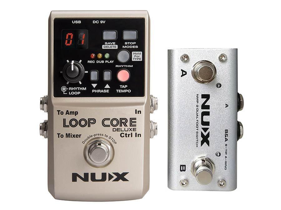 NUX Loop Core Deluxe Loop Pedal Gitarren/Basseffekt Looper Recorder Fußschalter