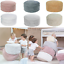lorena canals round pouf handmade braid nature color for baby childrens room