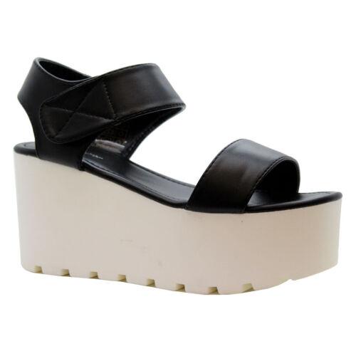 Ladies Women High Heels Chunky Platform Wedges Peep Toe Strap Sandals Shoes Size