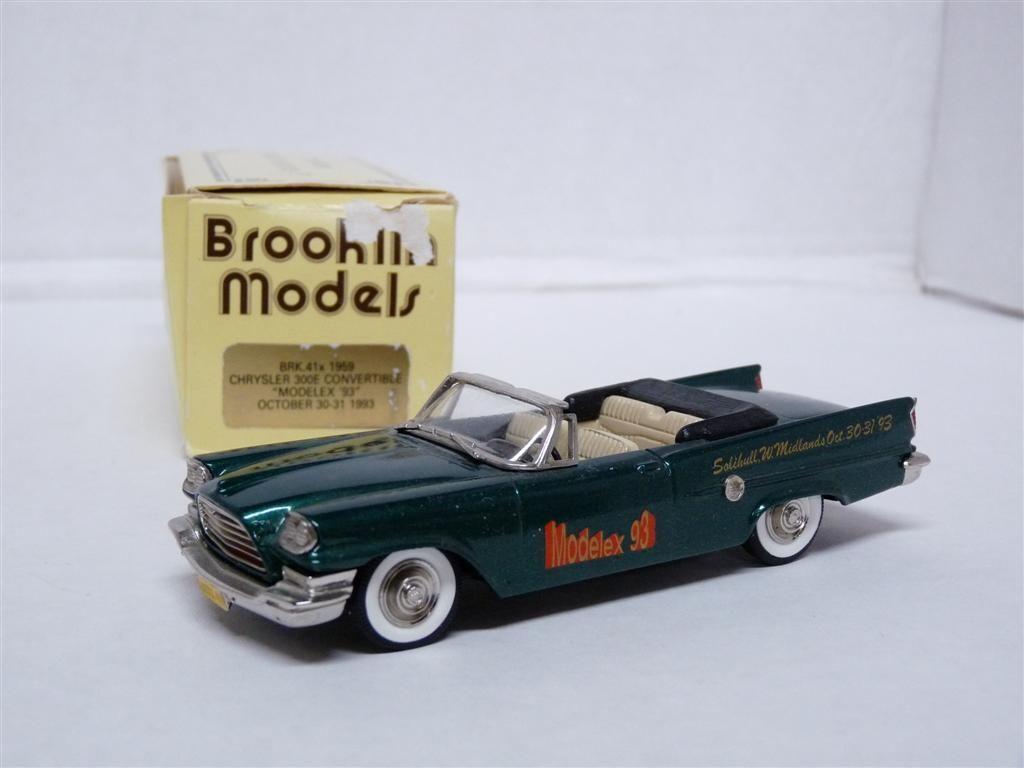 Brooklin BRK41x 1 43 1959 Chrysler 300E Modelex '93 Handmade Handmade Handmade White Metal Model 9e4a7e