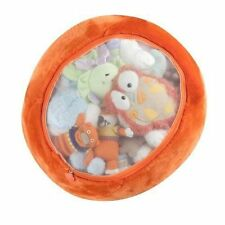 Boon Stuffed Animal Bag Storage Orange Seat Sit Organize Kids Room Girl Boy New