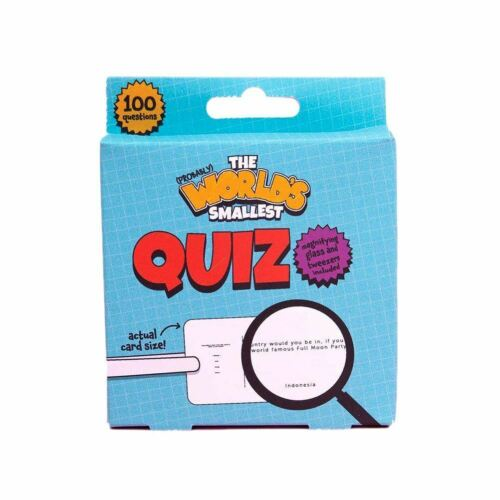 World/'s Smallest Quiz Novelty Game
