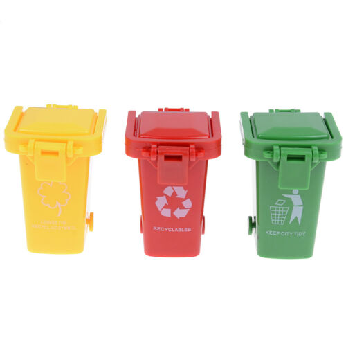 3Pcs//pack Trash garbage can container gag toy one set for children playing