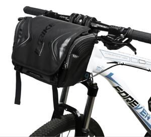 Bicycle Cycling Bike Handlebar Bag Nylon Front  Bag Large Capacity Bag Black