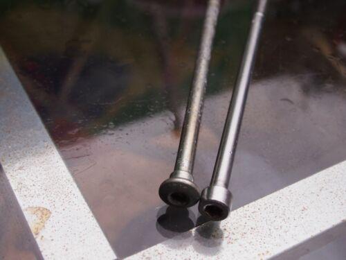 Vorbauten 2x Gewindestange Vorbau Rennrad Stahl  Länge je 18,6 und 19 mm silber 7mm Durchm Fahrradteile & -komponenten