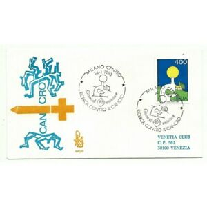 1983-FDC-Venetia-542-It-Italy-Quest-Against-Il-Cancer-Viaggiata-MF72298