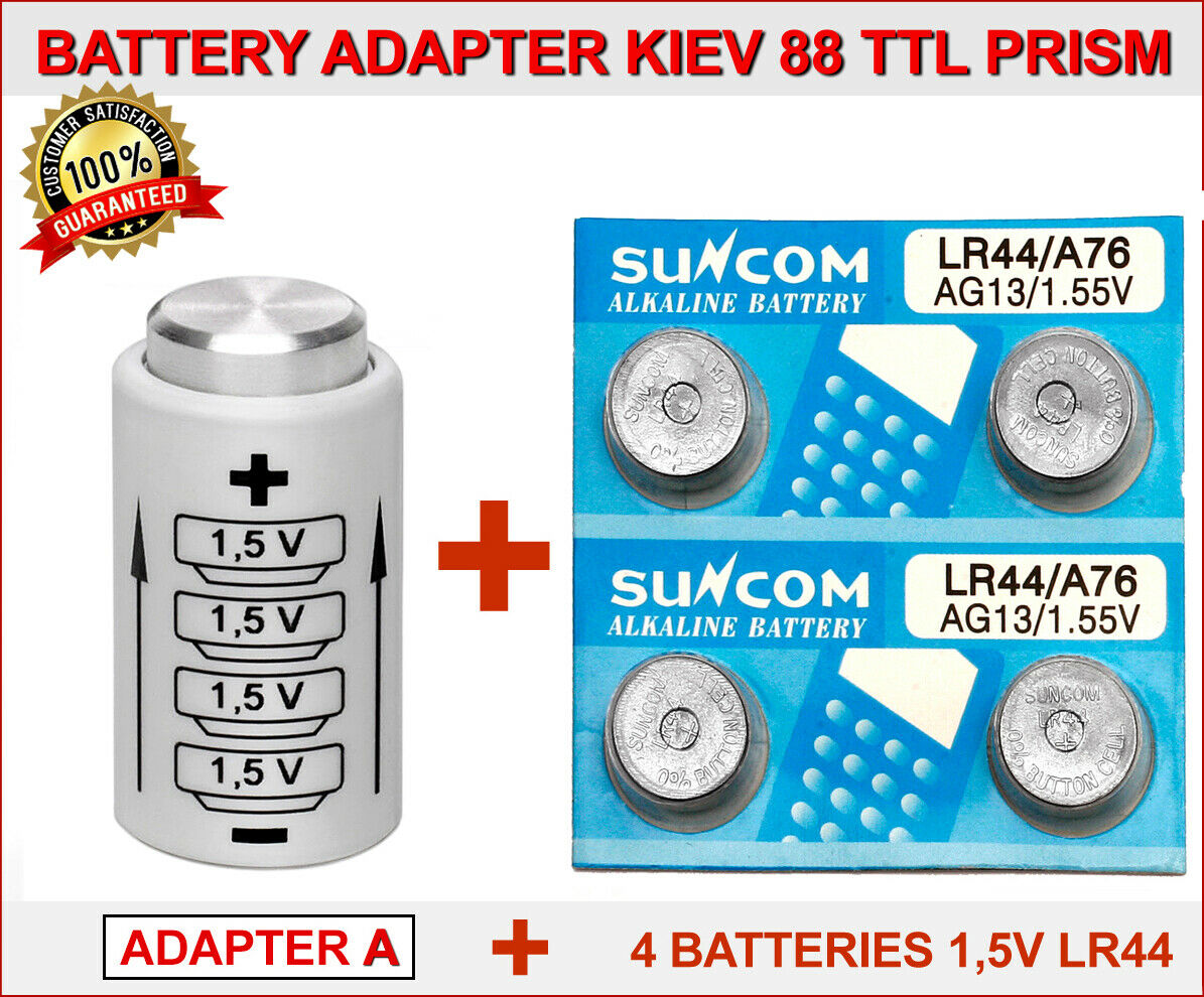 BATTERY (ADAPTER A) for KIEV 88 TTL PRISM + 4 BATTERIES BUTTON...