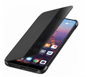economico per lo sconto f86db 44a00 Dettagli su Originale Huawei P20 Lite Smart View Custodia a Libro Custodia  Protettiva Nero