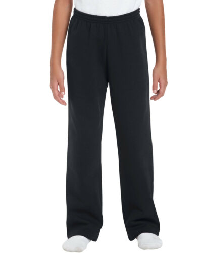 Gildan Heavy Blend Youth Open Bottom Sweatpant Childrens trousers 4 colours