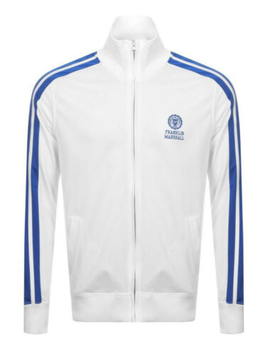 Franklin /& Marshall Mens Track Top UNI in White