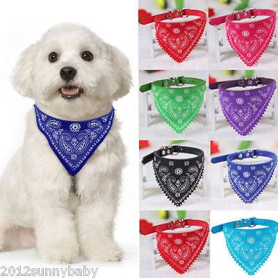 Random Adjustable Dog Cat Pet Collar Neckerchief Puppy Bandana Triangle Scarf
