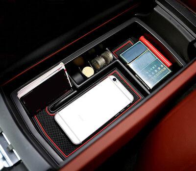 1pcs Interior Armrest Storage Box Organizer Holder For Peugeot 3008 GT 2016-2018