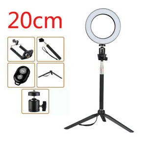 20CM Dimmable LED Ring Light Photography Selfie Light Photo Camera Youtube Live