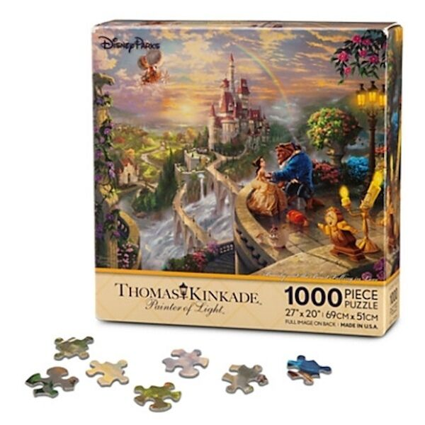 BEAUTY AND THE BEAST  FALLING IN LOVE  Disney Thomas Kinkade Puzzle NEW 1000 PCS
