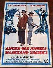 manifesto,  BUD SPENCER GIULIANO GEMMA ANCHE GLI ANGELI MANGIANO FAGIOLI 1973