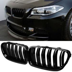 BMW F10 F11 F18 5-SERIES M5 BLACK GLOSSY SHINY FRONT HOOD KIDNEY ...