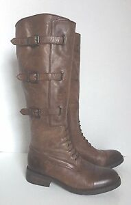 Vince Camuto Fenton Russet Braun Distressed Distressed Braun Leder Knee High Stiefel ... 7a4500