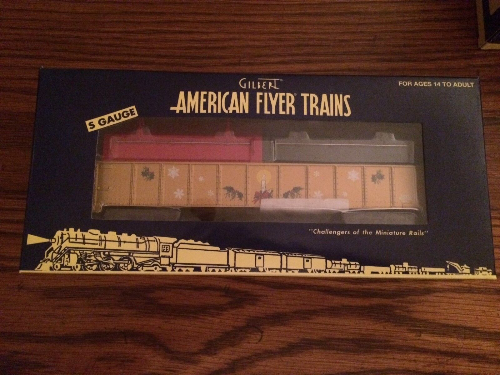 American Flyer 48572 Christmas Gondola Naughty & Nice Coil Covers New in Box