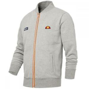 Ellesse-Men-s-Track-Top-Jacket-Full-Zip-Bomber-Grey-XS
