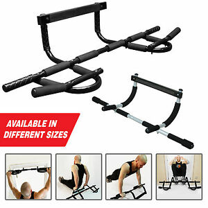 Image is loading Pull-Up-Bar-Exercise-Fitness-Home-Gym-Chin-  sc 1 st  Ebay SG & Pull Up Bar Exercise Fitness Home Gym Chin Ups Sit Ups Bar Door ...