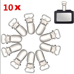 10//20Pcs 10mm Insert Pacifier Metal Holder Suspender Clips Hook Mitten DIY Craft