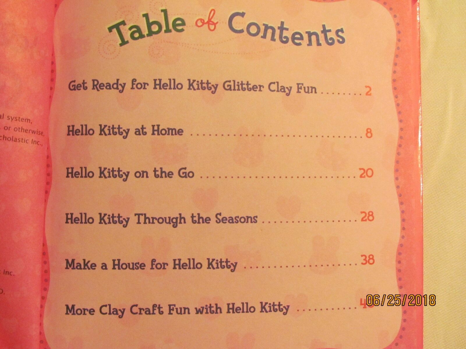Hello Kitty Glitter Clay Activity Book By Deborah Schecter 2001 Book Illustrated