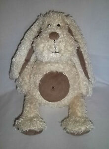 """JELLYCAT 13"""" Plush Bunny Rabbit Puppy Dog Off White Cream Long Ears Brown Belly"""
