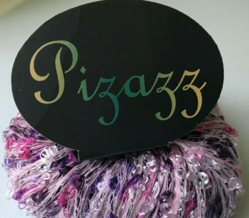 KFI Knitting Fever PIZAZZ #35 Light /& Dark Pink Purple Loopy Boucle Yarn Skein