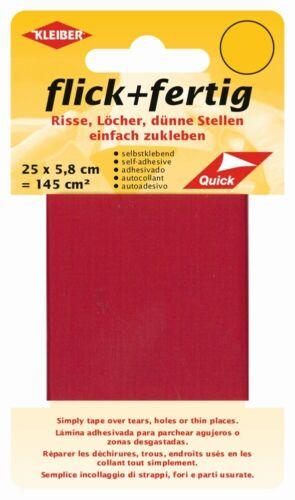 Kleiber Aufklebeflicken Flick /& Fertig rot