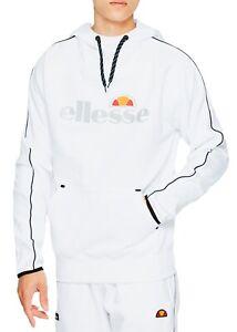 ellesse-Mens-Overhead-Barreti-Reflective-Logo-Hooded-Sweatshirt-Top-White-Hoodie
