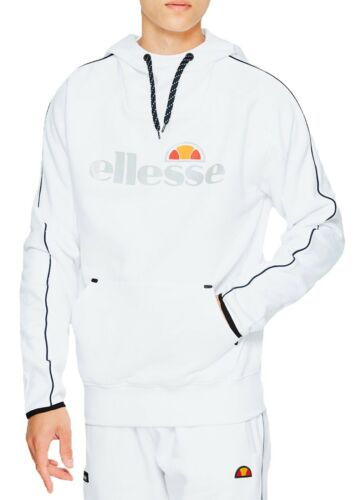 Mens capuchon logo Top Sweatshirt Barreti Overhead met reflecterend witte capuchon Ellesse 0Fqdf0