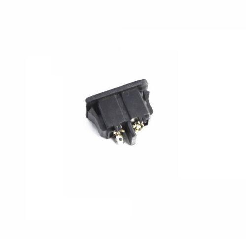 5Pcs AC250V 2.5 A IEC320 C8 Mâle 2 Pins Power Inlet Socket Panel intégré M87