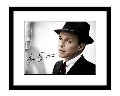 Frank Sinatra 8x10 Signed photo blue eyes Rat Pack studio signed