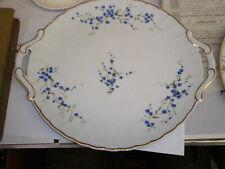 "Bernardaud Limoges "" Myosotis "" Cake Plate 12"" - Blue Flowers"
