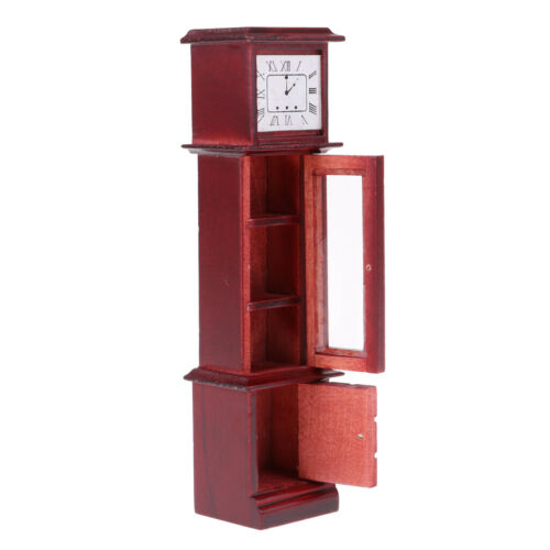 Vintage Style Grandfather Clock Furniture For 1:12 Dollhouse Decor Accessory